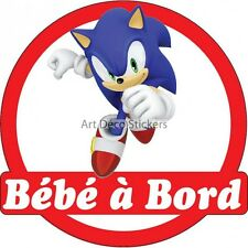 Stickers Baby à bord Sonic 16x16cm ref 15139 15139
