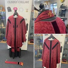 More details for red brocade chasuble, maniple & stole, c1810 england