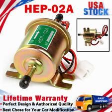 HEP-02A Electric Inline Fuel Pump 4-7 PSI 12V Low Pressure Carburetor Gas Diesel