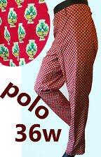 POLO ralph Lauren Red golf pant pattern 36 polka dot sailing country club suit