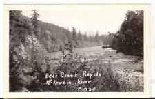 Undated Unused Postcard Real Photo Bear Creek Rapids McKenzie River Oregon OR