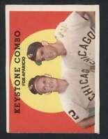 1959 Topps #408 Nellie Fox/Luis Aparicio EX/EX+ White Sox Keystone Combo 81958