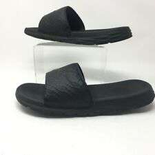 Nike Mens Benassi Solarsoft 2 Slide Sandals Black Textured Slip Ons 10