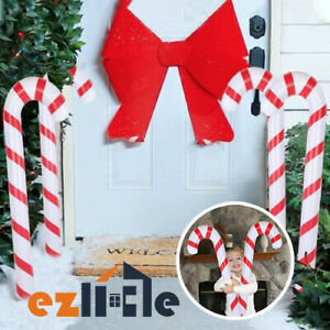 1x Xmas Ornament Decoration Inflatable Christmas Candy Cane Blow Up Giant Stick
