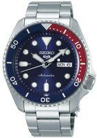 Seiko 5 Sports 'Pepsi' Bezel Steel Bracelet Automatic Men's Watch SRPD53K1