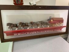 Vintage Budweiser Clydesdale wagon