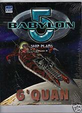 BABYLON 5 SHIP PLANS Volume II G'QUAN MGP3357 (Brand new in Shrink Wrap)