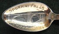 Sterling Souvenir Spoon Spokane Falls, WA, 1920