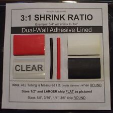 """3/4"""" CLEAR 4 Ft. Dual-Wall Adhesive Lined Heat Shrink Tubing 3:1 Ratio"""