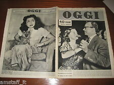RIVISTA OGGI 1949/48=BETTE DAVIS=GRANT SHERRY WILLIAM=FATEMEH PAHLEVI=