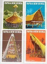 PAPUA NEUGUINEA NEW GUINEA 1971 193-96 319-2 Local Architecture Hütten Baustille