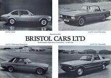 Bristol 603/S2 412/S2  & S3 Beaufighter 412 USA c.1986/87 UK sales brochure