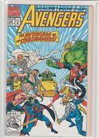 AVENGERS #350 Thor Black Widow Vision Hercules Starjammers Professor Xavier 9.2