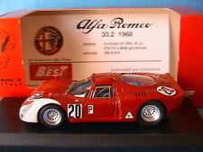 ALFA ROMEO 33.2 #20 DAYTONA 1968 VACCARELLA SCHUTZ BEST 9121 1/43 MADE IN ITALY