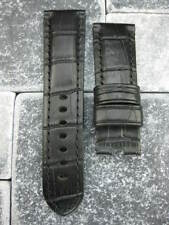 24mm XL Black Deployment Leather Strap Extra Large Watch Band PAM F L