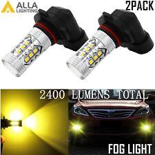 Alla Lighting 2x 3000K H10 9145 Gold Yellow 3030 SMD LED Fog Driving Light Bulbs