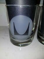 Herman Miller Furniture Logo Barware 12 oz Lowball Glasses Whiskey Set of 2