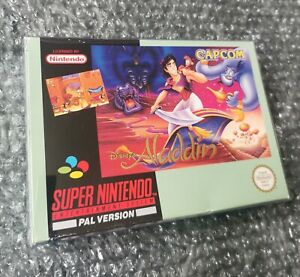 Super Nintendo Disneys Aladdin boxed and complete with manual. SNES game.