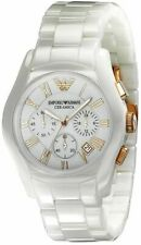 ** NEW **Emporio Armani® watch AR1417 Ladies White , Chronograph Ceramica