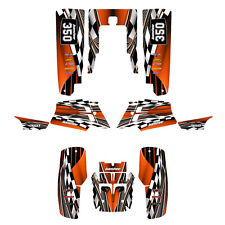 Yamaha Banshee graphics full coverage decal sticker kit #2500-Orange