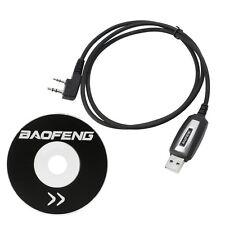 USB Programming Cable + CD CGYG For Baofeng UV-3R+ UV-5R 5RA Kenwood TK-240 250