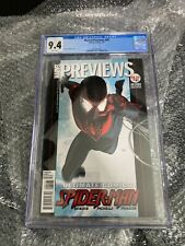 MARVEL PREVIEWS #95 CGC 9.4 - 1ST LOOK OF MILES MORALES SPIDER-MAN - ULTRA RARE!