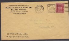 1929 Peebles Bowling and Billiard Parlors Advertising Cover - Cincinnati, Ohio