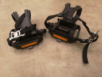 Specialized Toe Clip Pedals for Hybrd MTB CX MTB Enduro Road with Reflectors