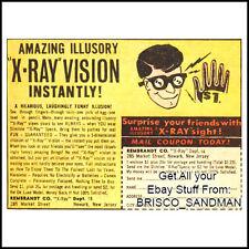 "Fridge Fun Refrigerator Magnet ""X-RAY VISION"" RETRO COMIC BOOK AD"