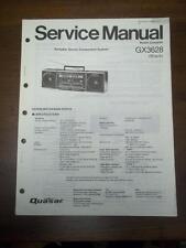 Quasar Service Manual for GX3628 Radio Cassette Recorder/Boombox~Original