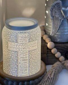 Scentsy TRUST IN HIM Wax Warmer - Hope RELIGIOUS/ God Jesus WHITE Ceramic ~NEW Q