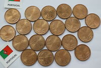 PORTUGAL 1 ESCUDO HUGE LOT IN HIGH GRADE B18 SS33