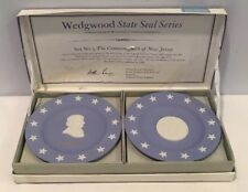 Vtg Nib Wedgwood Jasper Blue Pair Of Compotiers New Jersey/Witherspoon Set No 5