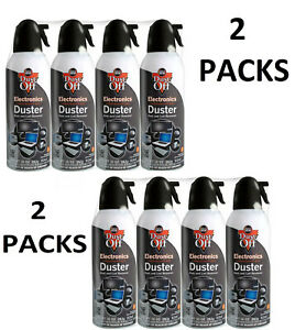 New Canned Air Falcon Dust-Off Compressed Computer Gas Duster 10 oz 8 Pack