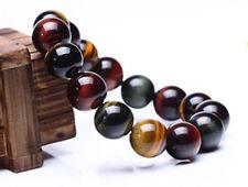 14Mm Natural Colorful Tiger Eye Stone Gemstone Beads Men Jewelry Bracelet Bangle