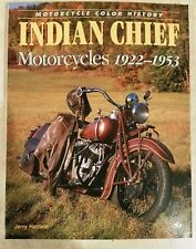 INDIAN CHIEF COLOR HISTORY MOTORCYCLE JERRY HATFIELD BRAND NEW BOOK 1st ED SCOUT