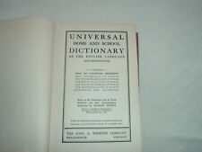 Rare Noah Webster's 1916 UNIVERSAL HOME & SCHOOL DICTIONARY by Charles Morris