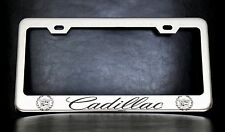 """Cadillac"" License Plate Frame, Custom Made of Chrome Plated Metal"