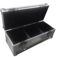 "Neo 300 LP VINYL 7"" Record DJ Silver Storage Aluminium DJ Flight Carry Case Box"