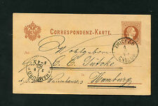 Österreich P25  nach Hamburg  1882   (BA-7)