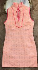 Sail to Sable Tunic Dress Orange Pink Beige V Neck Size XS Sleeveless Lined