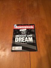 Newsweek Magazine America's Lost Dream by Robert J. Samuelson March 2 1992