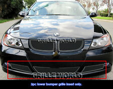 06-07 BMW 3-Series E90 Sedan Black Bumper Stainless Steel Mesh Grille