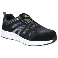 Amblers AS714 BOLT Black Lace Up Safety Trainer