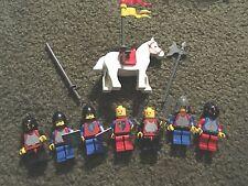 8 Vintage Lego Knights Horse Lot Minifigure  Castle Sword Shields Classic