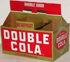Vintage soda pop bottle carton DOUBLE COLA Double Good slogan unused n-mint+