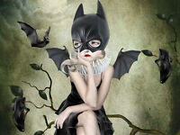 5D Full drill Diamond Painting Cartoon Bat Girl Shoe Home Decor Handicraft 6382X