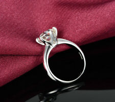 1.5 CT ROUND CUT DIAMOND SOLITAIRE ENGAGEMENT RING 14K WHITE GOLD ENHANCED 9.5
