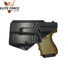 Kydex Holster For Glock 26/27/33 GEN 1-5 w/ TLR6 - RIGHT HAND CARBON FIBER