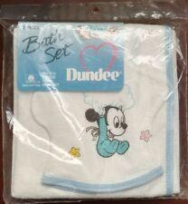 Disney Babies Dundee Bath Set Hooded Towel & Wash Mitt Mickey Mouse vintage NIP